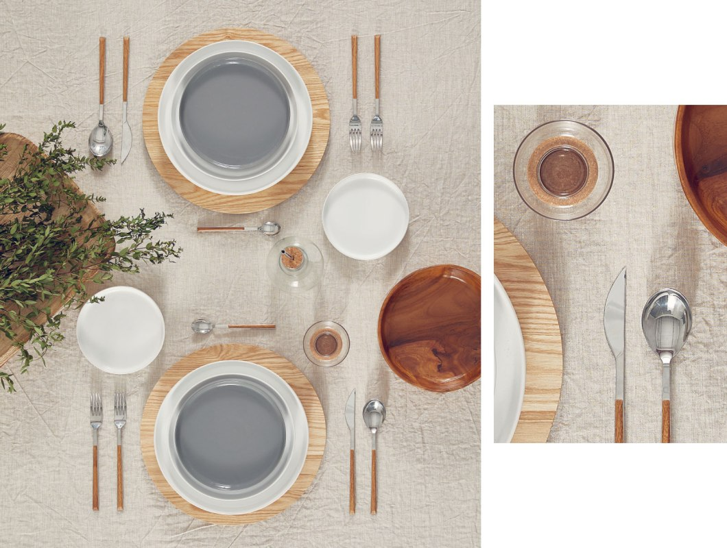 Borddekking naturlig stil fra Zara Home