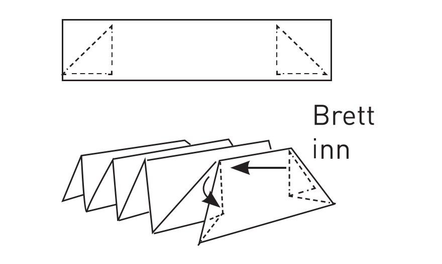 Napkin folding star 5
