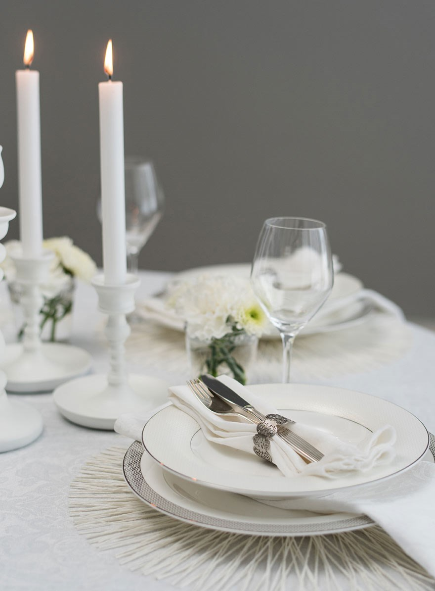 Neutral colors - table setting