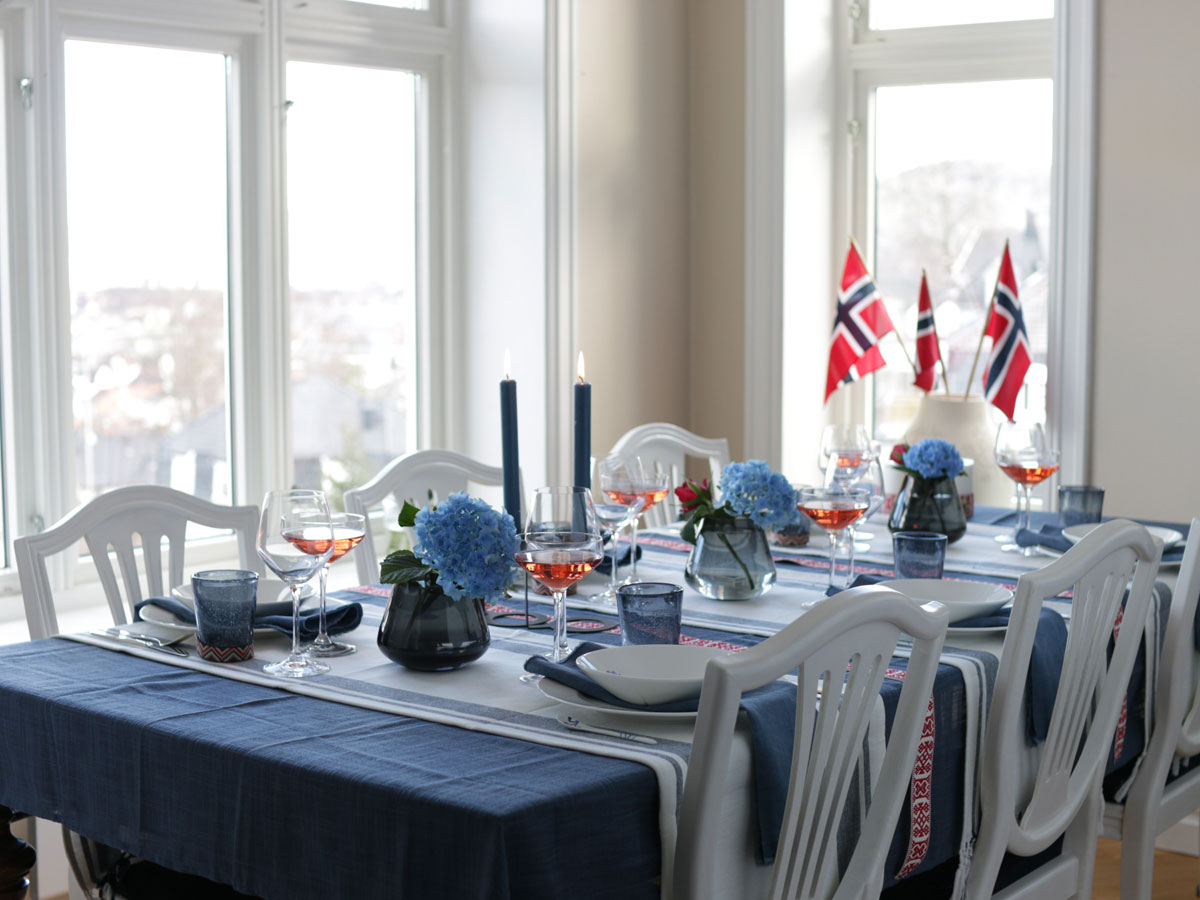 table setting for National Day