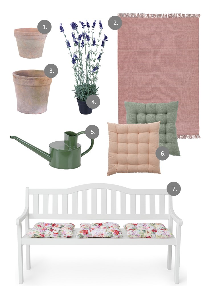Neutral and pastel color palette - garden