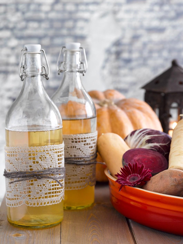 Decorative bottles as table decor