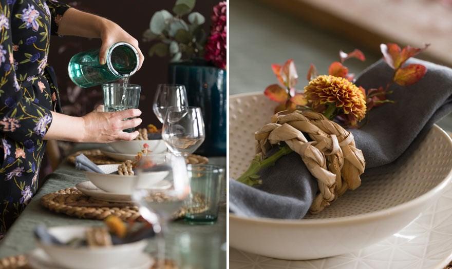 Tips til å dekke et fint høstbord med blant annet blåbærlyng - fra bloggen mariannedebourg.no