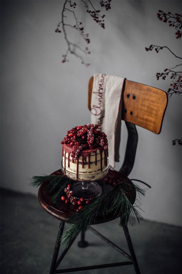 Julens flotteste kake bugner av røde bær. (Foto: Zara Home).
