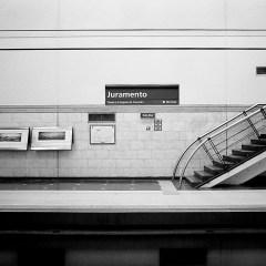"""Juramento"" station, ""D"" line."