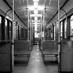 "Empty carriage, ""A"" line."