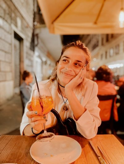 María Perrier en Roma