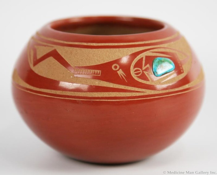 Tony Da Avanyu redware pottery