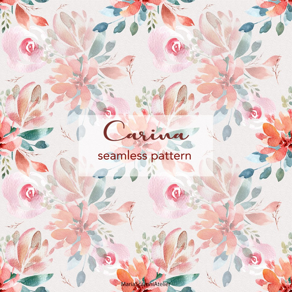 "Watercolor Seamless Pattern - ""Carina"""