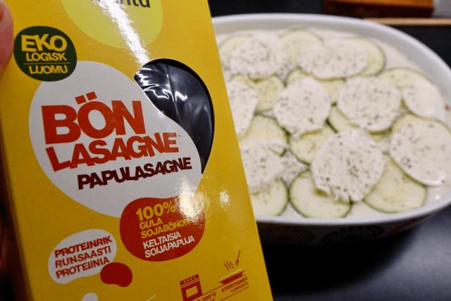 Linslasagne med zucchini