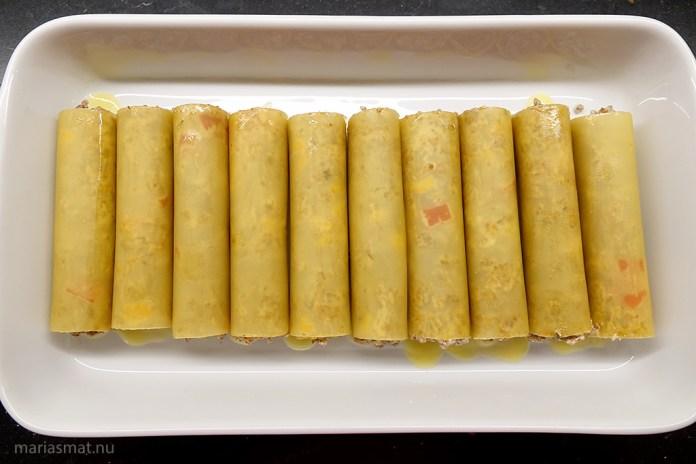 Cannelloni med tacofärs