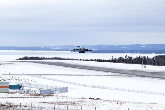 Boeing C17 på besök