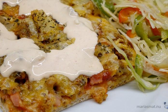 Kycklingkebabpizza