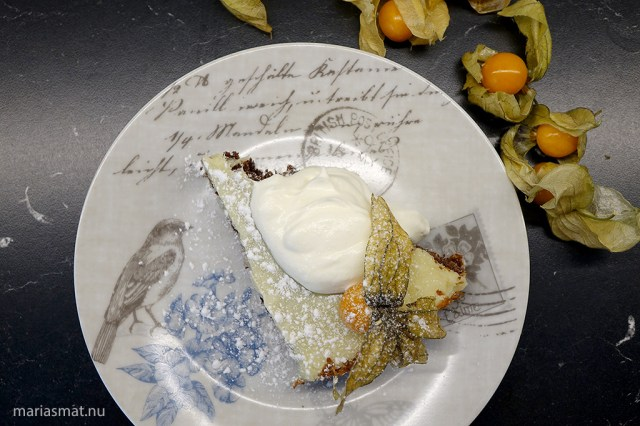 Lakritskladdkaka med citronganache
