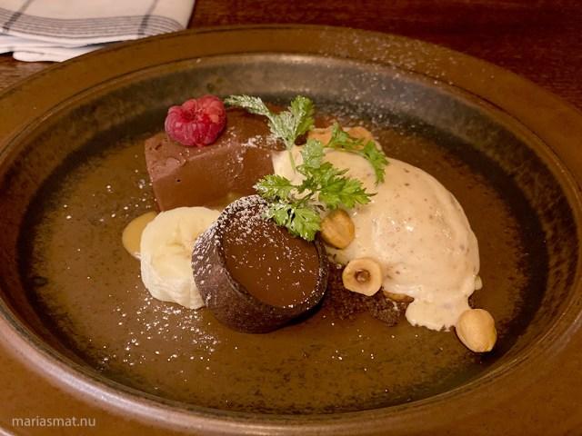 Choklad-terrine Hickory Bistro Simrishamn