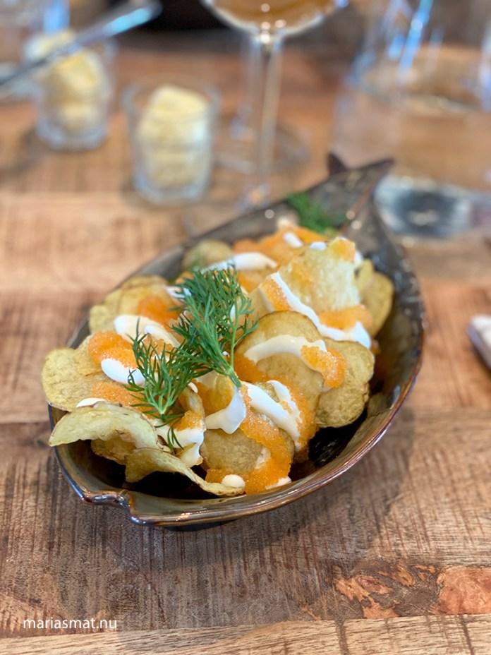 Potatischips med löjrom