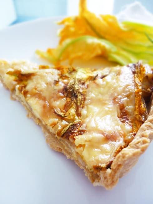 Obsesiones y pizza rústica de flor de calabaza