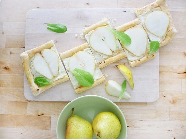 Las peras y yo: Tarta de peras, gorgonzola y ricotta.