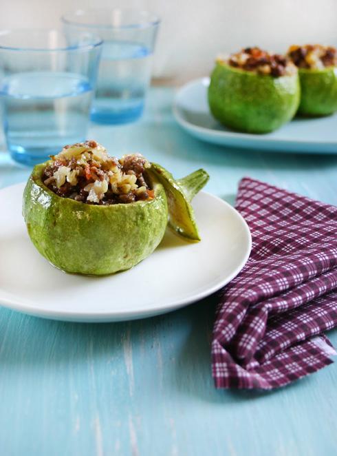 Calabacitas (zucchine) rellenas