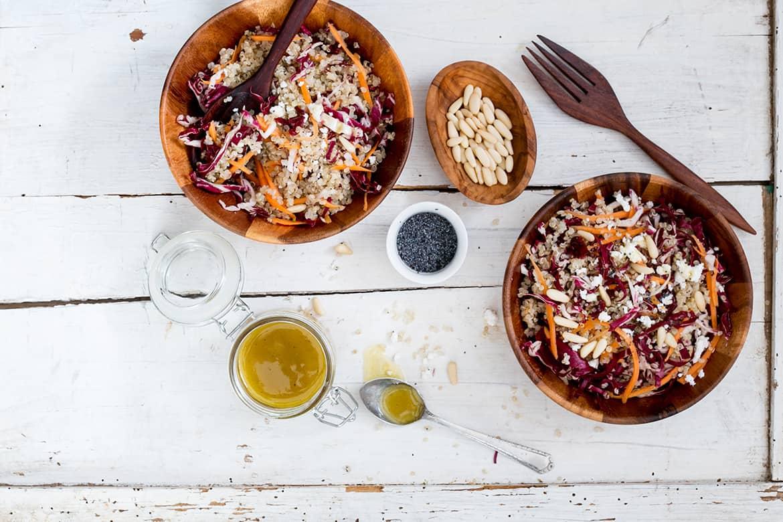 Ensalada de quinoa y radicchio