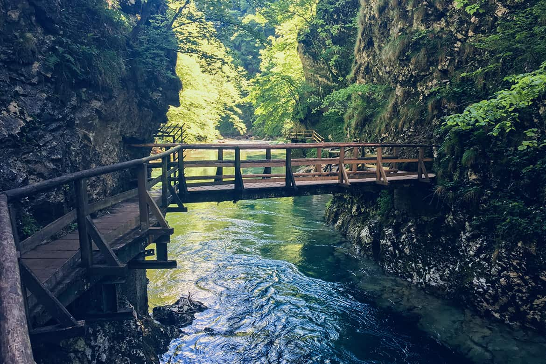 La garganta de Vintgar, Eslovenia.