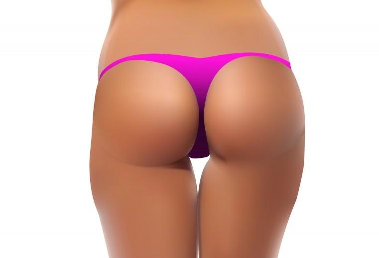 woman wearing pink panties