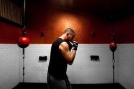 man doing boxing workout