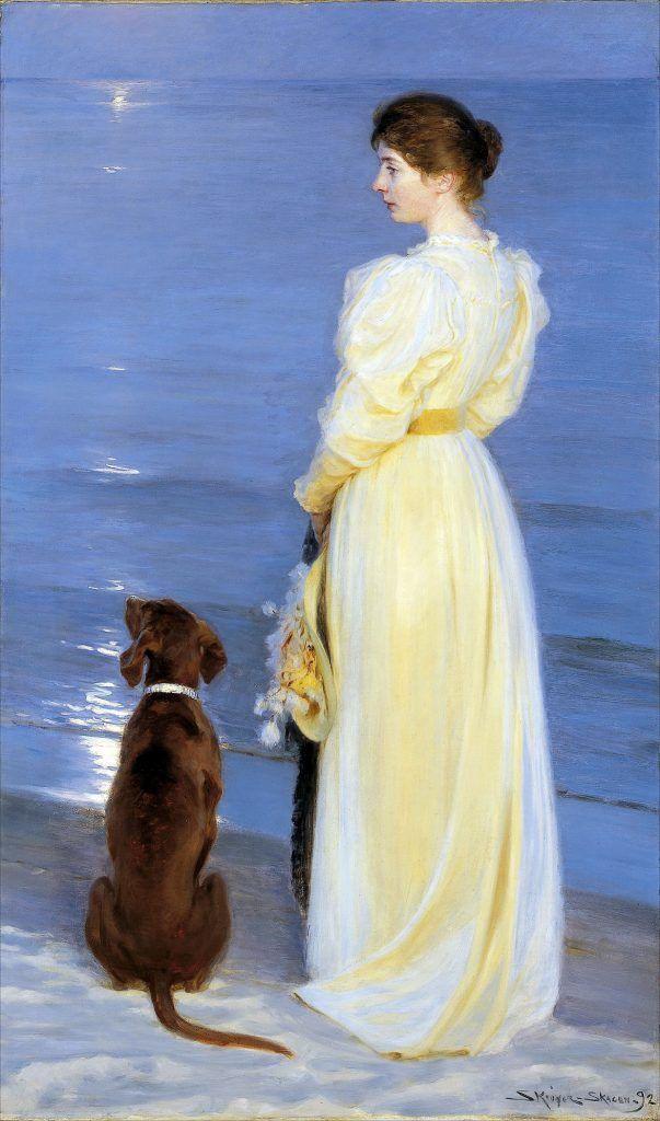 Sommeraften ved skagen P.S. Krøyer 1892
