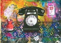 Timbre Le téléphone fixe