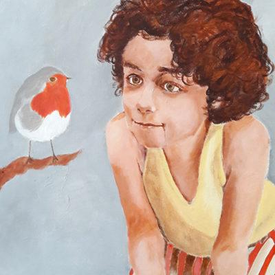 Marie Colombier Acrylique sur toile. 60x75cm. Ref 056
