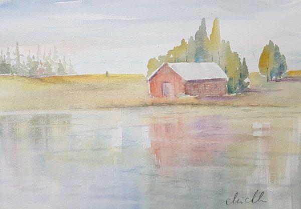 Akvarell av Marie Andersson