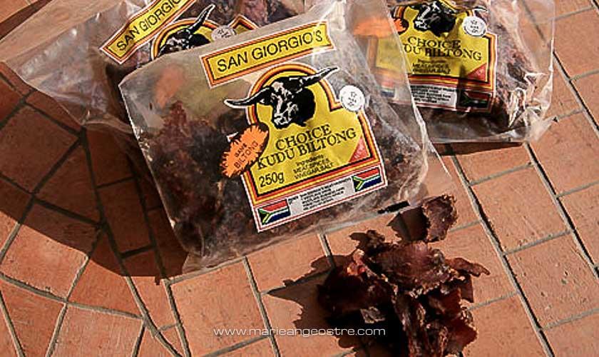 Botswana, biltong ou viande séchée © Marie-Ange Ostré