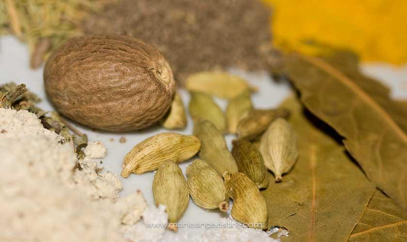 Egypte, épices pour koshari plat national egyptien © Marie-Ange Ostré