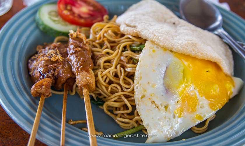 Cuisine indonésienne, mie goreng © Marie-Ange Ostré