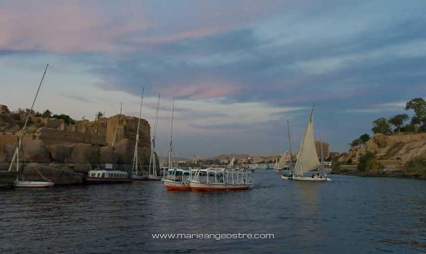 Egypte, coucher de soleil sur le Nil © Marie-Ange Ostré