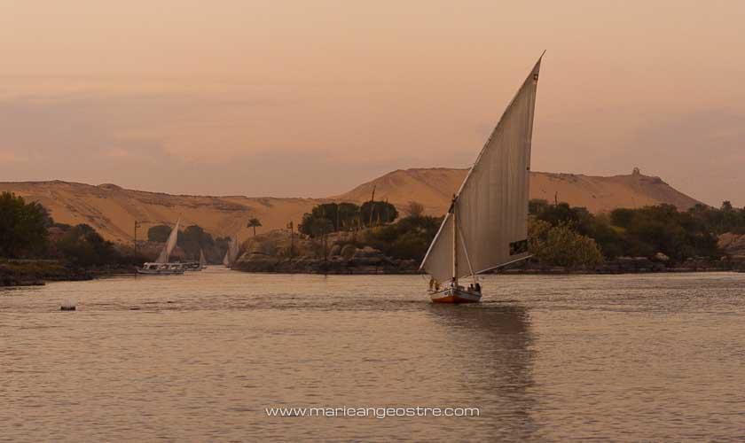 Egypte, felouques en croisière sur le Nil © Marie-Ange Ostré