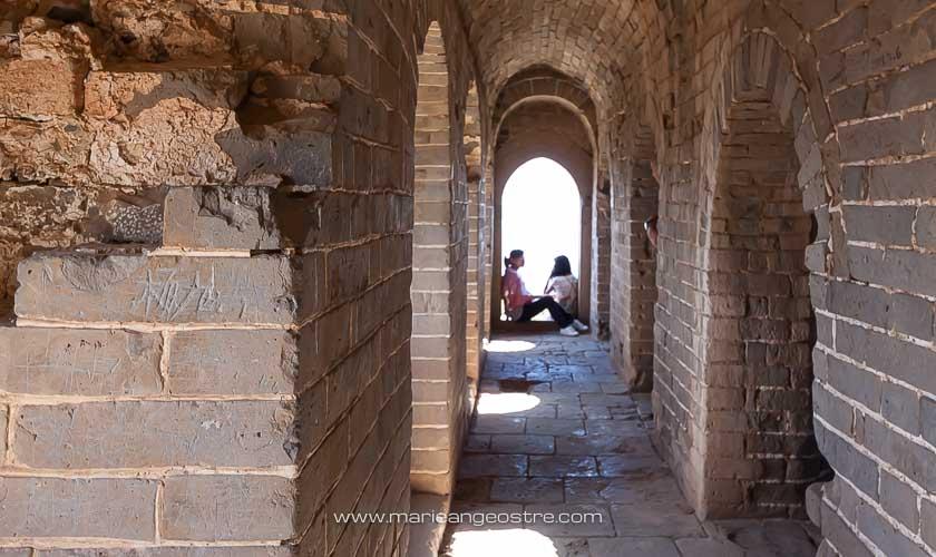 Chine, à l'intérieur d'une tour de guet sur la Grande Muraille, Simatai © Marie-Ange Ostré