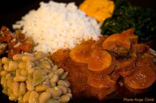 La Réunion, accompagnements du rougail saucisses © Marie-Ange Ostré