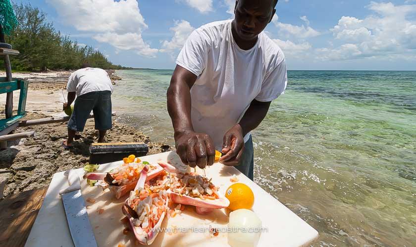 Cuisine des Bahamas, recette salade de conque ou conch salad © Marie-Ange Ostré
