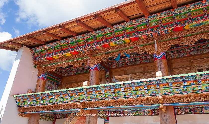 Chine, extérieur maison tibétaine province de Shangri-La © Marie-Ange Ostré