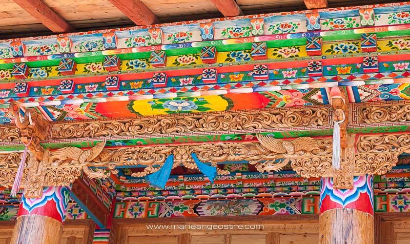 Chine, décoration intérieure d'une maison tibétaine © Marie-Ange Ostré