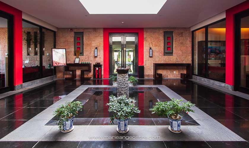 Chine, hôtel Banyan Tree Lijiang, entrée du spa © Marie-Ange Ostré