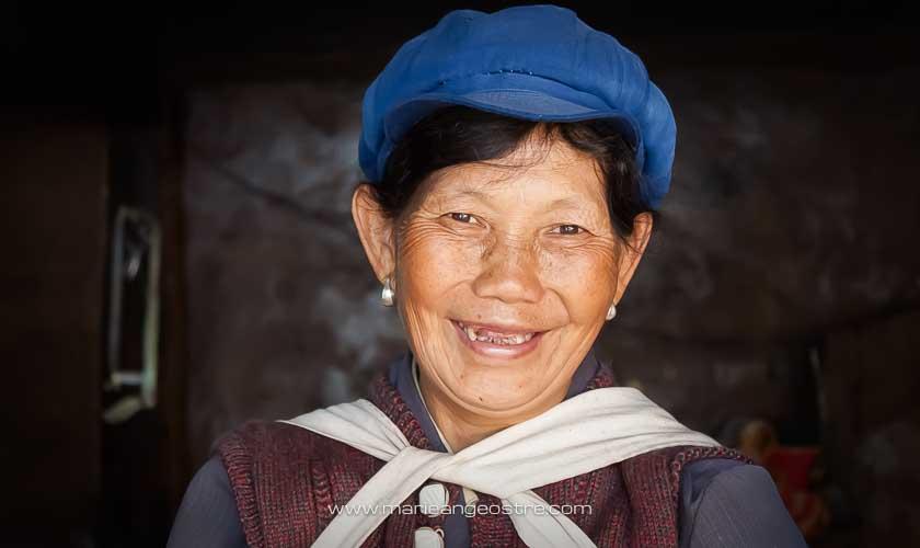 Chine, portrait de femme du Yunnan © Marie-Ange Ostré