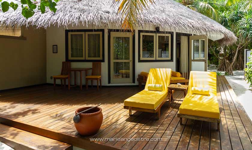 Maldives, hôtel Angsana Velavaru, villa plage © Marie-Ange Ostré