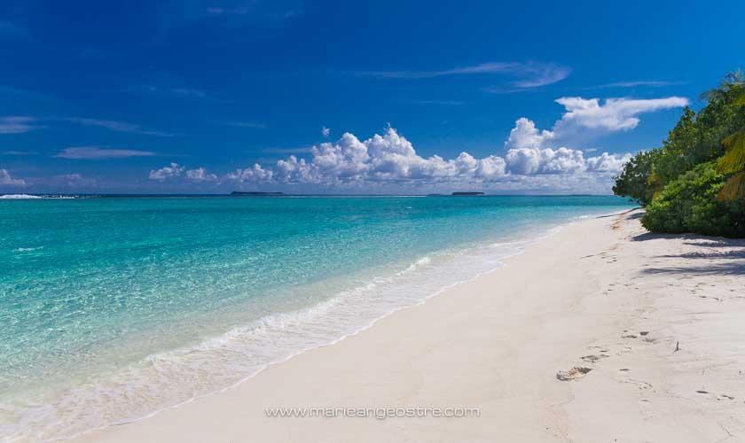 Maldives, hôtel Angsana Velavaru, plage © Marie-Ange Ostré