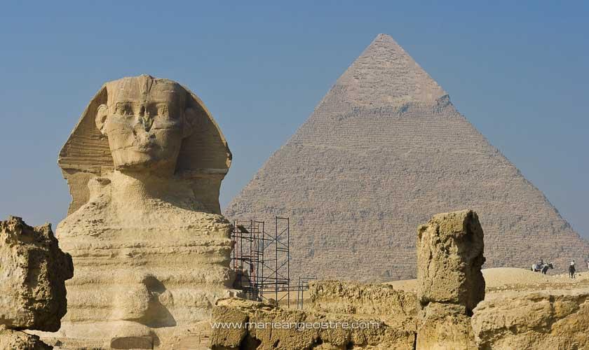 Egypte, Sphynx et pyramide de Guizeh © Marie-Ange Ostré