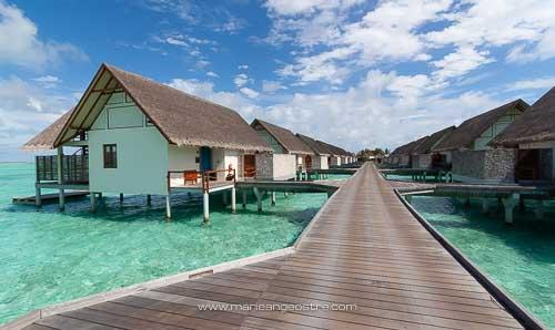 Maldives, hôtel Four Seasons Landaa Giraavaru, villas sur pilotis © Marie-Ange Ostré