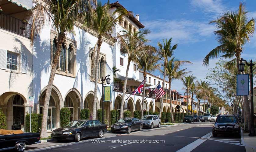 U.S.A., avenue à Palm Beach, Floride © Marie-Ange Ostré