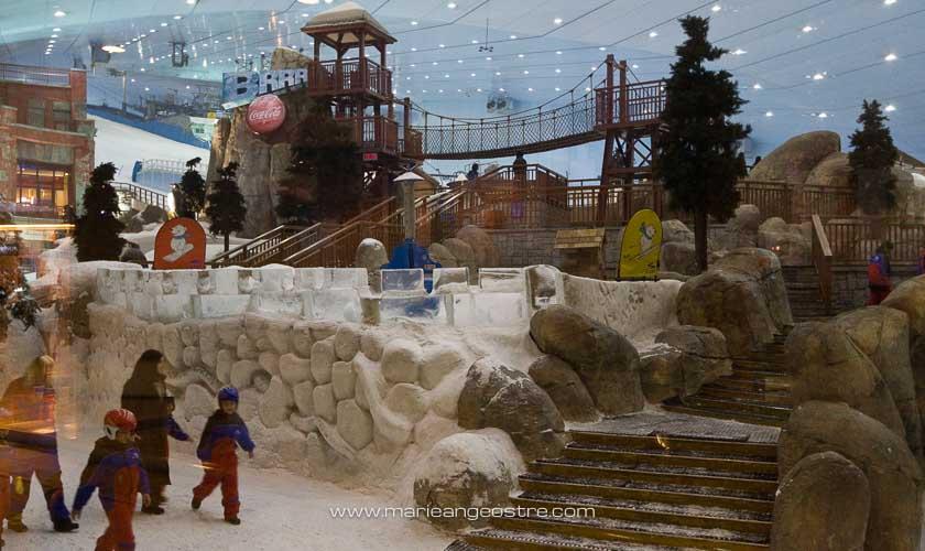 Dubai, piste de ski dans le centre commercial © Marie-Ange Ostré