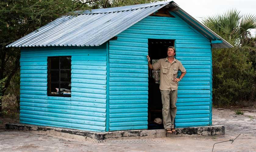 Botswana, Pierre Stine au poste frontière © Marie-Ange Ostré